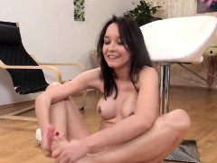 ravishing-girl-is-pissing-and-pleasing-shaved-cunt