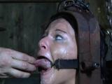 Sub slut caned before hardcore restrain