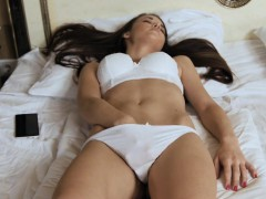 Pretty Sweetie Opens Up Slim Slit And Gets Deflowered