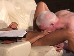 russian girl twat nails old man blows his dick