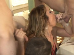Tranny Bukkaked By Group