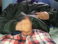 Olive Jacket Wanking