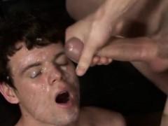 Homo Big Cock Cumshot Gay Bukkake With Nervous Nathan