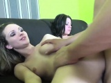 Incredible threesome action with two lovely fillies