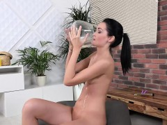 Mistica Gets Horny During Solo Pissing Scene