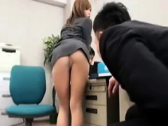 sexy-office-babe-poses-on-her-chair-and-shows-her-boss-nice