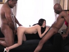 Rough Trio With Two Black Males For Kyoko Nakajima