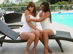 Amirah with Victoria Daniels having lesbian sex present