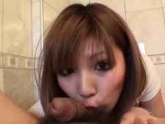 Mariko Deals Cock Between Her Lips In Sexy Pov Show