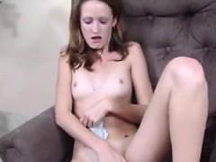 Tiny Teen Masturbates With Her Panties