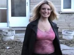 monster tit chubby girlfriend striptease outdoors