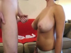 Cumming All Over Her Big Natural Teen Tits