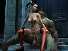Sexy Babe Fucked By The Incredible Hulks Enormous Cock
