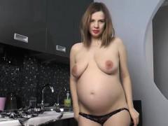 pregnant lina strips nude and masturbates!