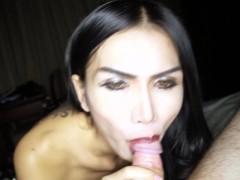 Whoring Ladyboy Bella Sucking Dick