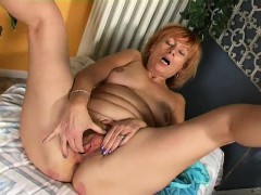 Redhead masturbation home Erma from dates25com