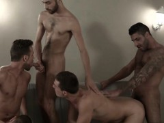 Muscle Gay Sex Party And Cumshot