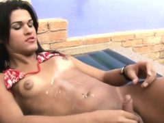 Leaked FULL movie of Teen shegirl with puffy nipples wanking