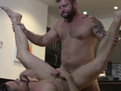 masculine-hunk-drills-hunk-ass-in-the-kitchen