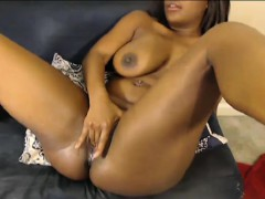 Black Pussy And Big Dangling Boobs