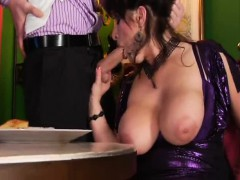 british milf with monster boobs and hairy twat