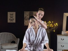 Masseuse Relaxing Natural Busty Babe