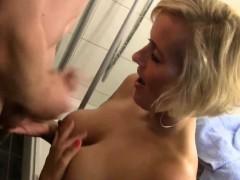 Busty Blonde Pussy Cumshot Inside