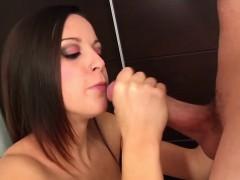 brunette-hottie-sucked-a-long-dick