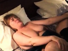 hot granny fuck with a huge black cock on bed