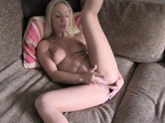 Smooth Pussy Fucked On Casting Office Couch