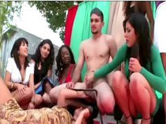 Amateur Chicks Playing Cfnm Games With A Naked Guy