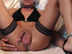 Dirty Crossdresser In Homemade Solo