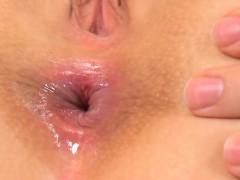 Cute Kitten Is Gaping Narrow Vagina In Close up And Having O