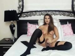 Pretty Shemale Brunette Masturbate On Cam