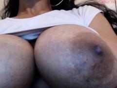 See Big Oiled Boobs With Huge Nipples