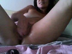 holly-adorable-brunette-babe-toying-pussy-with-a-large-dildo