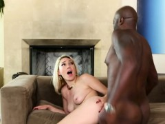 Blonde Lily Gets Penetrated By Black Monster Cock