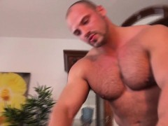 Stud Masseur Tugs On Twinks Huge Dick