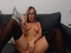 Naughty Babe Toying Her Wet Pussy
