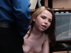 Barely Legal Teen Got Smacked By A Long Police Cock