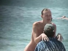 Awesome Outdoor Sex In A Public Beach With Sarah