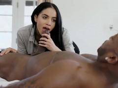 Big Tits Lady Victoria June Interracial Sex On Massage Table