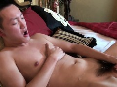 Asian Twink Tugs Himself