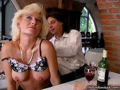 Big Tits Blonde Granny Loves Sucking Part4