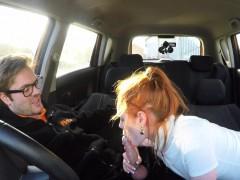 Fake Driving School Cute Redhead Ella Hughes Fucks