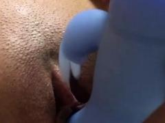 close up vagina masturbation while alone at home