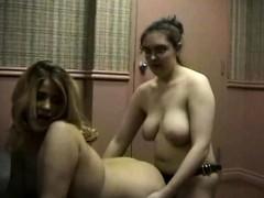 Bbw Lesbian Femdom Screws Girlfriend With Strapon