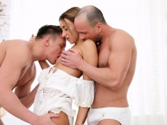 Katrin Is Ready For Her Personal All white Home Sex Party