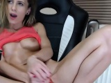 Beautiful European blonde solo masturbating