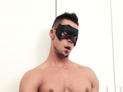 Yummy Stud Jerks Off His Hard Ramrod For His Future Boss Man